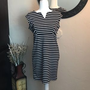 Attention Black and White Sheath Dress Size Small